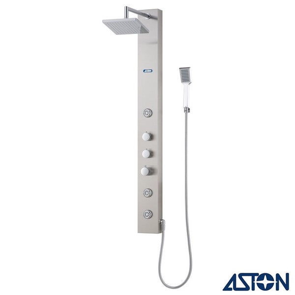 Aston 51-in Stainless Steel 3-Jet Multifunction Massaging Luxury Shower Panel Tower
