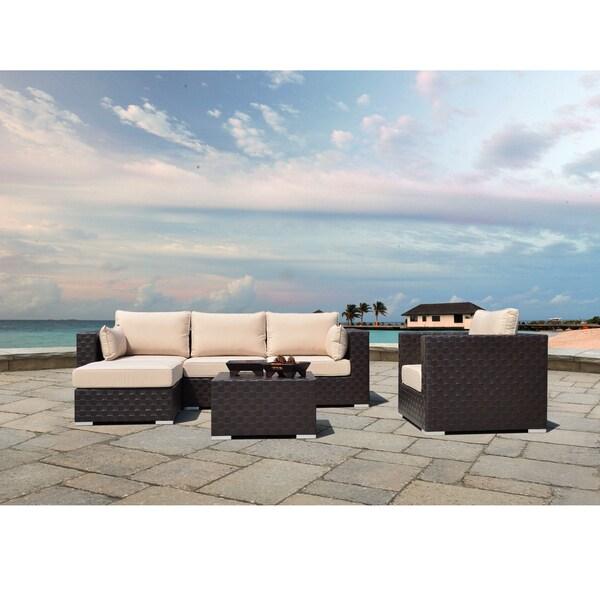 Corvus Palermo 6-piece Modular Seating with Sunbrella Fabric Cushions