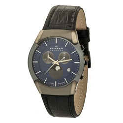 Skagen Men's 901XLMLN Classic Round Black Strap Watch