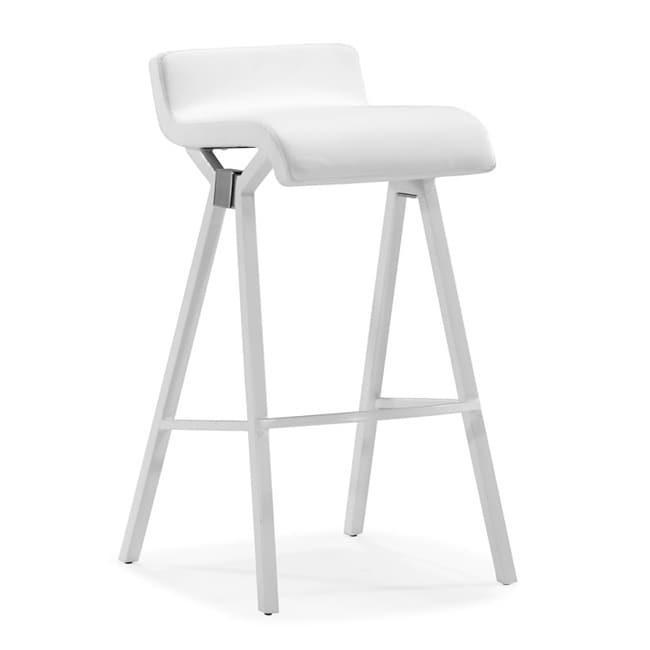 Zuo Xert White Bar Chairs (Set of 2)