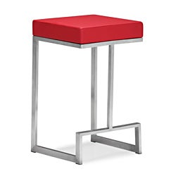 Zuo Darwen Red Counter Chairs (Set of 2)