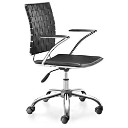 Zuo Criss Cross Black Adjustable Office Chair