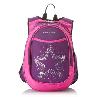 Obersee Kids Pre-School All-In-One Bling Rhinestone Star Backpack With Cooler