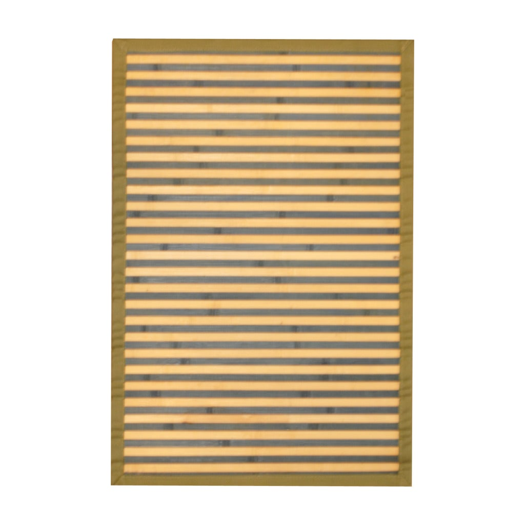 Asian Hand-woven Blue/ White Bamboo Accent Rug (2' x 3')
