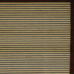 Asian Hand-woven Blue/ White Bamboo Rug (2' x 3')