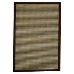 Asian Hand-woven Blue/ White Rayon from Bamboo Rug (2' x 3')
