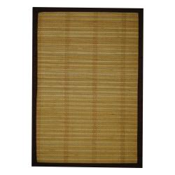 "Asian Handwoven Beige Natural Bamboo Rug (1'8"" x 2'8"")"