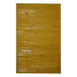 "Asian Handwoven Yellow Bamboo Accent Rug (1'8"" x 2'8"")"