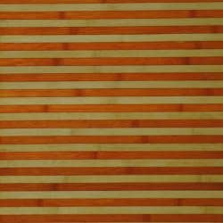 Asian Hand-woven Orange/ White Bamboo Rug (1'8 x 2'8)