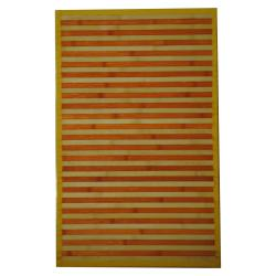 Asian Hand-woven Orange/ White Bamboo Rug (1'8 x 2'8)