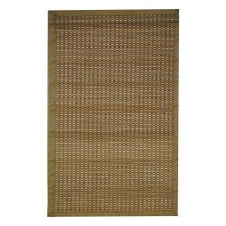 Asian Hand-woven Ivory/ Beige Bamboo Rug (1'8 x 2'8)