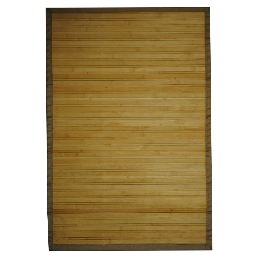 Asian Hand-woven Beige Rayon from Bamboo Rug (2' x 3')