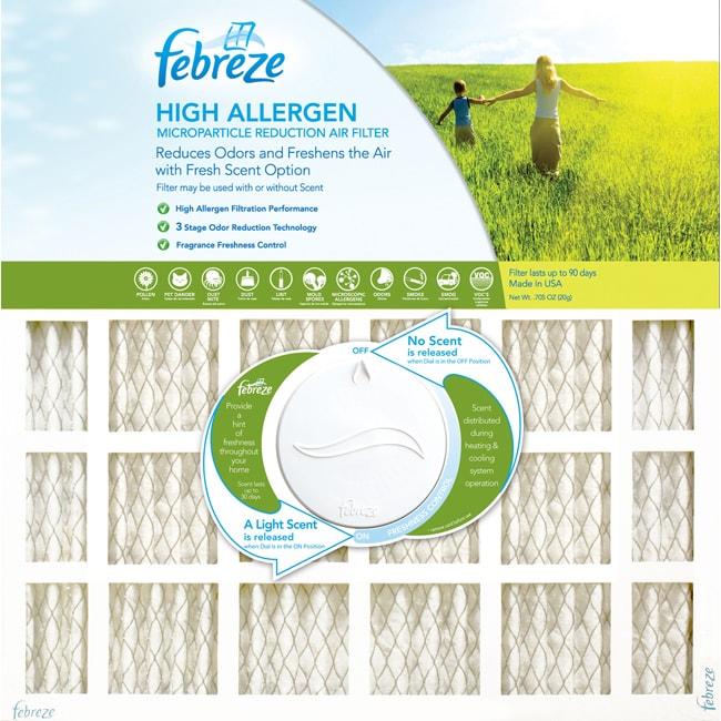 Febreze 14 x 25 x 1 High Allergen Electrostatic Air Filter