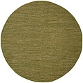 Hand Woven Matador Green Leather (8' x 8' Round)