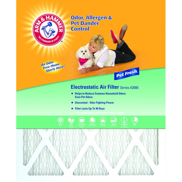Arm & Hammer 16 x 25 x 1 Pet Fresh Pet Protection Air Filter 9431866