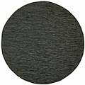 Hand Woven Matador Black Leather (8' x 8' Round)