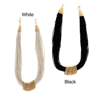NEXTE Jewelry Goldtone Black or White 60-strand Necklace
