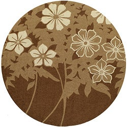 Indoor/ Outdoor South Beach Brown Spring Rug (9'0 x 9'0)
