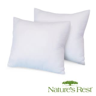 Nature's Rest Eco Fiber Euro Square Pillow (Set of 2)