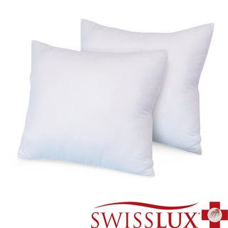 Swiss Lux Eco Fiber Euro Square Pillow (Set of 2)