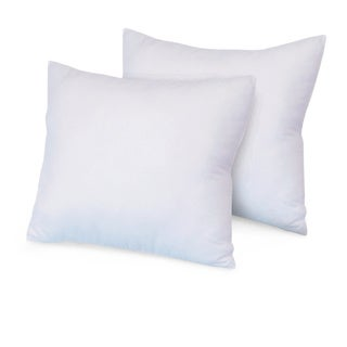 SwissLux Eco Fiber Euro Square Pillow (Set of 2)