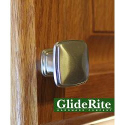 GlideRite Square Deco Satin Nickel Cabinet Knobs (Pack of 10)