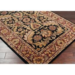 Hand-tufted Mallia Black New Zealand Wool Rug (2' x 3')