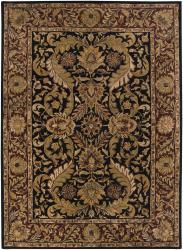 Hand-tufted Mallia Black New Zealand Wool Rug (2' x 3')