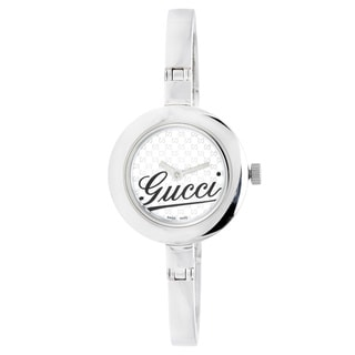 Gucci Women's 105 Series Slim Bangle White Dial Watch