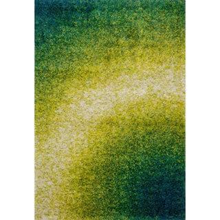 Stella Green Shag Rug (5'2 x 7'7)