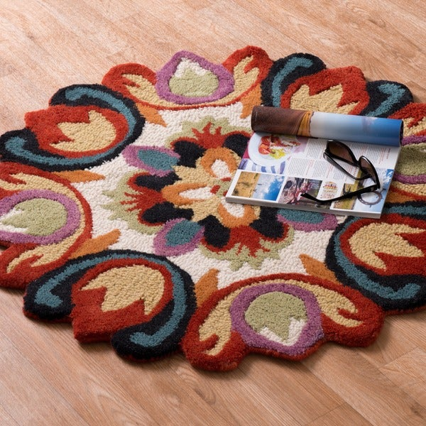Hand Tufted Lucinda Multi Wool Rug (3'0 Round)