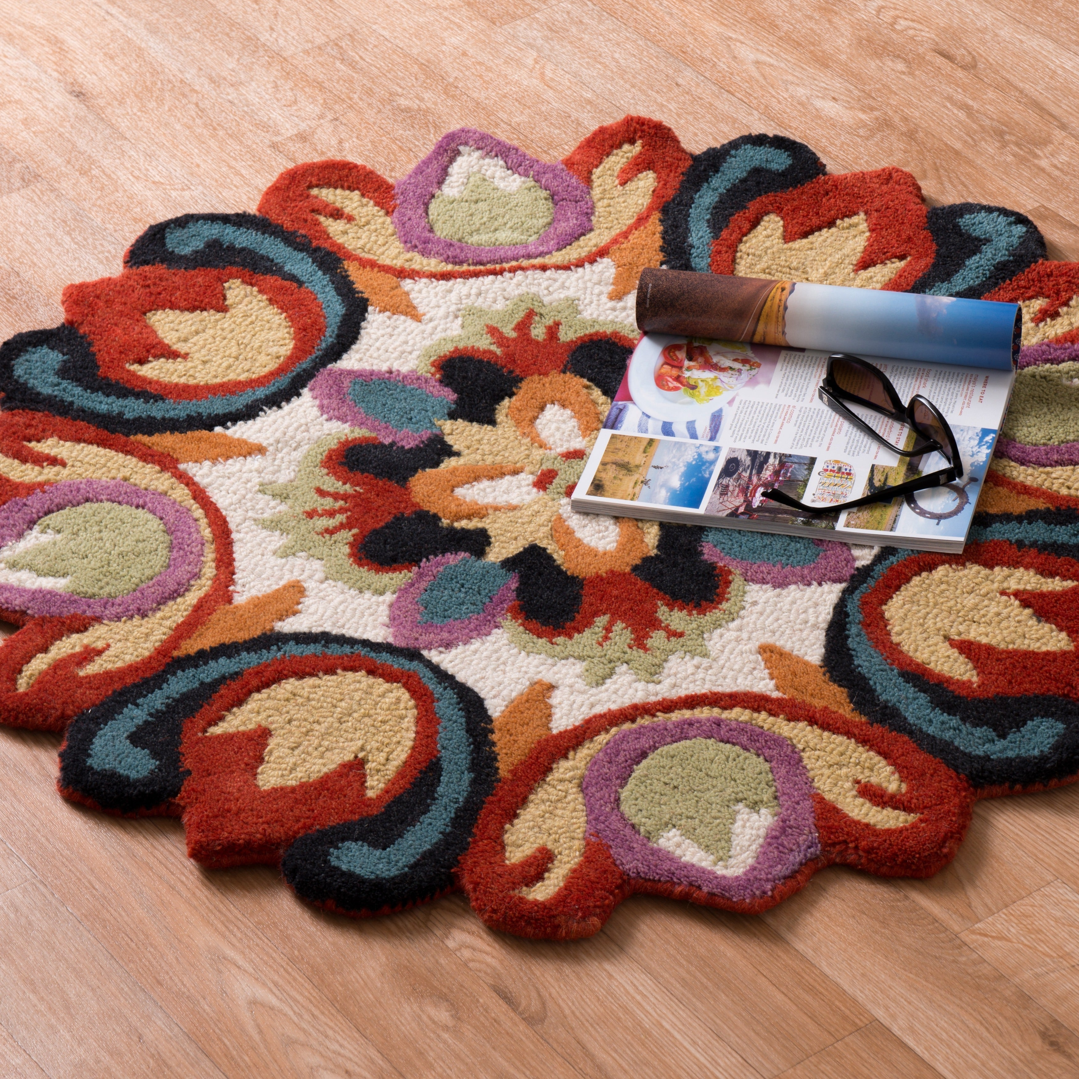 Alexander Home Hand Tufted Lucinda Multi Wool Rug (3'0 Round) at Sears.com