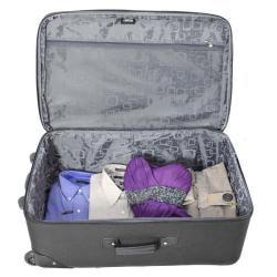 Kemyer Vacationer Lightweight 4-piece Black Expandable Luggage Set