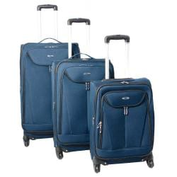 Kemyer Celebrity Lightweight 3-piece Ocean Blue Expandable Spinner Luggage Set