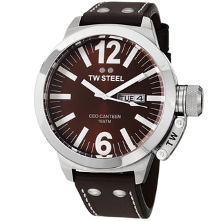 TW Steel Men's CE1010 'Ceo Canteen' Brown Dial Brown Leather Strap Watch