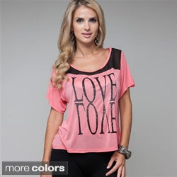Stanzino Women's 'Love' Reflection Tee