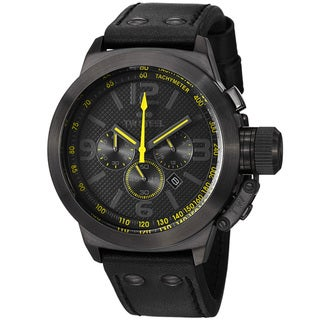 TW Steel Men's 'Canteen' Black Dial Black Strap Chronograph Watch