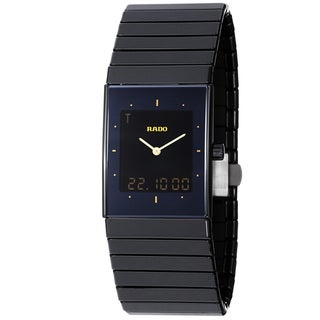 Rado Men's 'Ceramica Jublie' Black Dial Analog Digital Watch