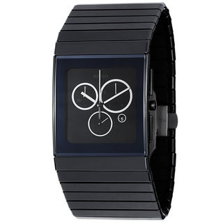 Rado Men's R21714152 'Ceramica' Black Dial Quartz Chronograph Watch
