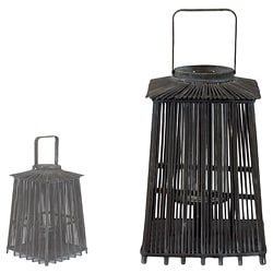 Wooden Black Large Lantern