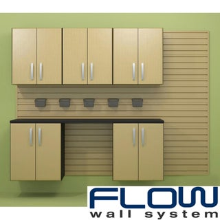 Flow Wall Maple Workstation with Small Hard Bins