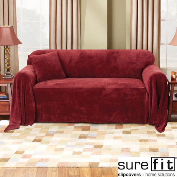 Sure Fit Plush Sofa Throw Slipcover