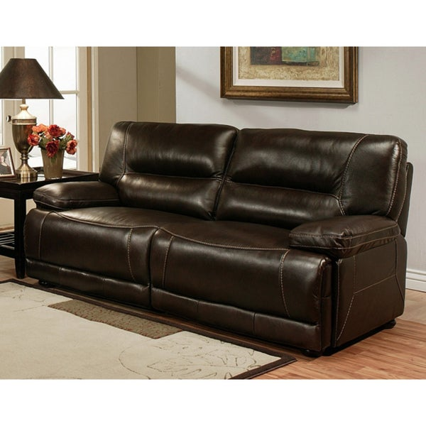 abbyson living barrington premium top grain leather sofa 14488207