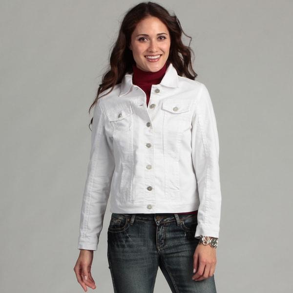 Women's Live a Little Elastic Back Denim Jacket