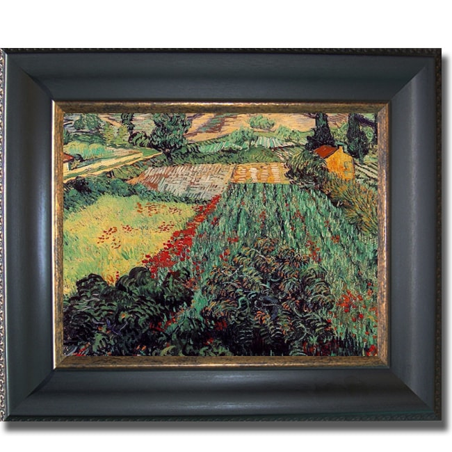 Vincent Van Gogh 'Field with Poppies' Framed Canvas Art