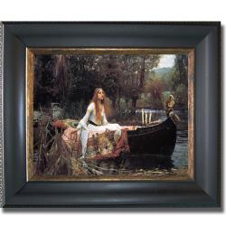 John Waterhouse 'The Lady of Shallot' Framed Canvas Art