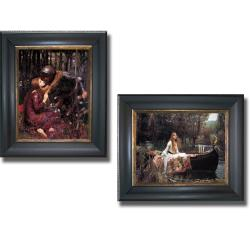 John Waterhouse 'La Belle Dame Sans Merci and The Lady of Shallot' Framed 2-piece Canvas Art Set