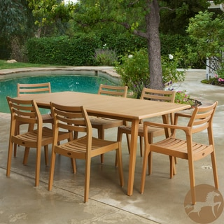 Christopher Knight Home Lombardi 9-piece Outdoor Eucalyptus Wood Dining Set