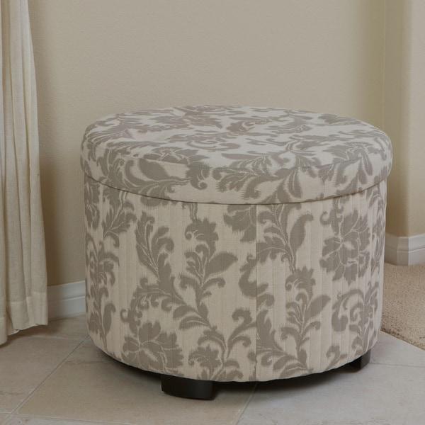Christopher Knight Home Amigo Beige Floral Shoe Storage Ottoman