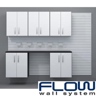 Flow Wall White Workstation with Small Hard Bins